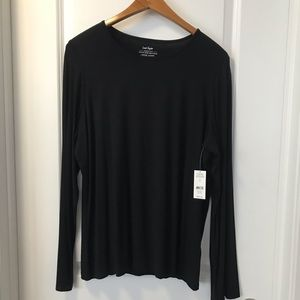LORD & TAYLOR Iconic Fit Jersey Tunic Black